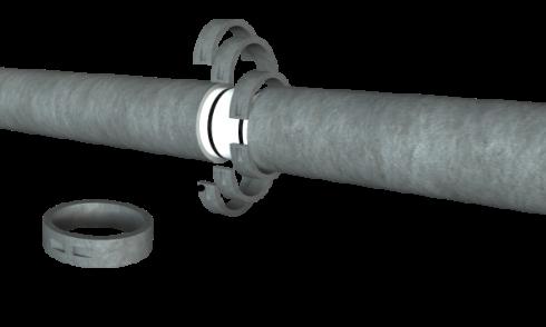 Сборные устройства для защиты стыка трубопровода